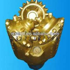 Rubber sealed bearing insert tooth tricone bit for well drilling