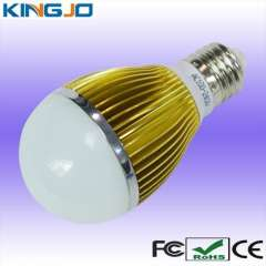 Gold plating 5w led bulb e27 with best factory price