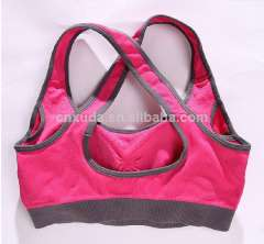 Lady sexy yoga&fitness wear and shorts yoga bra Cheap wholesale women sports\yoga\gym\running bra with removable bust cups