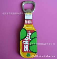 It serves fine creative PVC plastic bottle opener, bottle opener silicone plastic cartoon plastic bottle opener