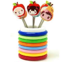 Cute baby picture fruit fruit fork