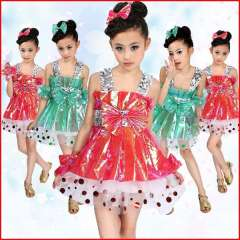 Child costume female child dance primary school students modern paillette tulle dress performance wear