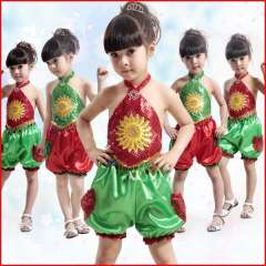 Child costume female child dance clothes dance costume the infant clothes costumes