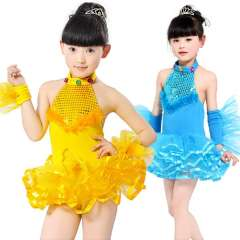 Child costume female child dance dress infant primary school students modern paillette
