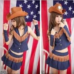 Modern dance clothes cowboy hat clothes fashion costume