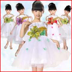 Child costume dress tulle modern dance clothes female child children dance performance wear costume princess dress