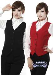 Autumn and winter red black female vest slim tooling OL outfit female women's vest Free Shipping