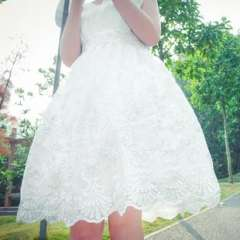 Japan and South Korea 2013 new popularity explosion models Short wedding | Heavy bridesmaid dress embroidered waist Slim