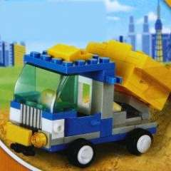 NO.M38-B0178 Plastic Building Blocks Q Engineering Truck Educational Funny Toy for Children