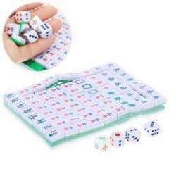 Mini Portable Interesting Chinese Game Toy Leisure Travel Printed Mahjong
