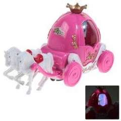 Princess Bubbles Carriage New Style Toy for Children - Pink and White