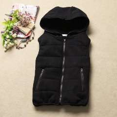 2013 all-match fashion plus velvet thickening with a hood vest female vest cotton vest Free Shipping