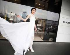 Free Shipping 2013 New Fashion New Romantic Women High Waist Korean Brand Pure Color White Lace Long Vestido Dress SL071738WI