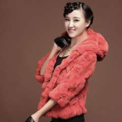 Picao rex rabbit hair fur coat short design three quarter sleeve hooded vest 2013 Free Shipping