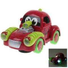 Q12 Electric Fruit Car with Light and Music for Children - Red and Green