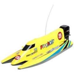 3382 27GHz High-powered High-speed Airship R\C Racing Boat - Yellow
