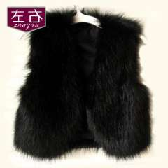 Free Shipping Spring vest female autumn and winter fashion faux vest design short fur vest