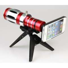 20x Zoom Telescope Phone Camera Lens Kit Tripod Case for Iphone 5s 5