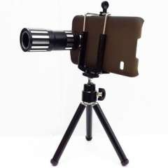 12X Optical Lens Long Focus AL Professional Mobile Phone Telescope Camera with Tripod + Holder +shell for Samsung S5 Note2 Note3