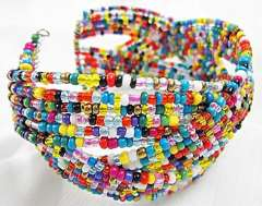 Charming colored beads bracelet