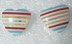 Color stripe heart of India 's four earrings