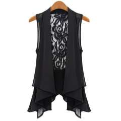 2013 women's vest cape summer slim sleeveless vest chiffon vest medium-long waistcoat Free Shipping
