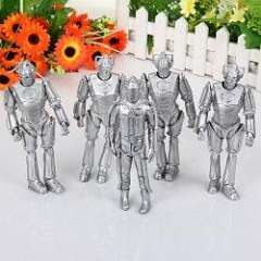5PCS Cool PVC Silver Sammy Figure Toy Anime Character Model with Rotating Joint