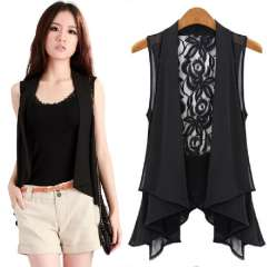 2013 summer fashion vest spring and autumn cool women's chiffon vest Free Shipping