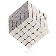 125Pcs Creative 4mm Magnetic Blocks Cubes Building Magnet Toys with Metal Box Packed - Silver