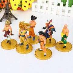 Set of 5pcs Dragonball Z Dragon Ball Action Figures DBZ Statues - Gold