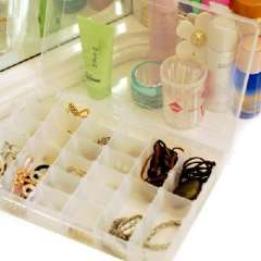 Xin Bao transparent box 36 open cell high-capacity jewelry box / storage box