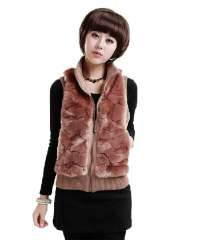 Autumn and winter personality women's wool waistcoat slim fashion vest outerwear Free Shipping