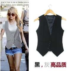2013 magicaf formal lady fashion slim vest small suit vest female spring and summer Free Shipping