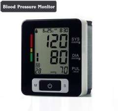 Automatic Digital Wrist Blood Pressure and Pulse Monitor Portable Blood Pressure Monitor Gauge Tester Heart Beat Meter