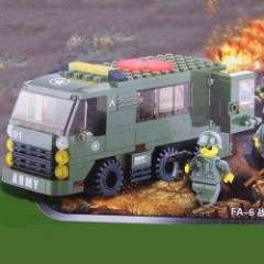 NO.80025 Plastic Building Blocks FA-6 Field Ambulance Educational Funny Toy for Children