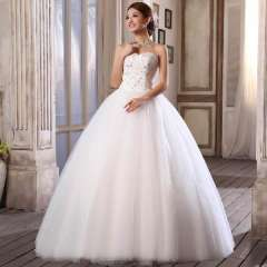 Sweet wedding bride the bride married lacing wedding dress new arrival princess puff skirt wedding dress Free Shipping