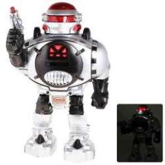 NO.28083 Remote Control Robot Versatile Toy for Children - Silver, Black and Red