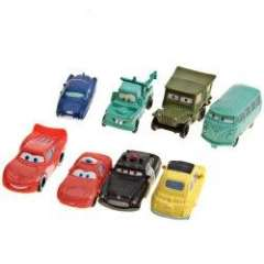 Popular Car Story Animation Toy Model for Kids over 3 (8Pcs)