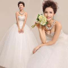 Sweet heart wedding dress tube top 2013 bride diamond quality Free Shipping