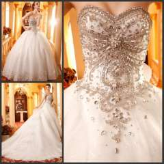 The bride wedding dress formal dress 2013 sparkling wedding dress bandage tube top train wedding dress bride new arrival