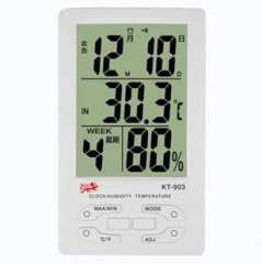 Large screen temperature and humidity meter kt-903, electronic thermometer screen big time