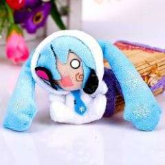Fashion Plush Cool 4 Inches V Snow Miku with Hat Dolls\Decorations\Pendant - Blue