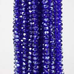 8X5MM blue crystal beaded necklace bead section | 16英寸