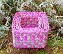 Color corn bran storage baskets
