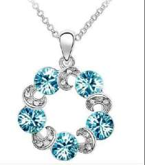 Austria element mysterious cycle of eternal promise clouds crystal necklace - Sky Blue ( 205 / -2 )