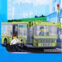 NO.82102 Plastic Building Blocks 102 City-express Bus Educational Funny Toy for Children