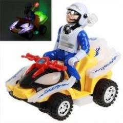 NO.1939 City Police and Motorbike with Light and Music for Children - Colorful