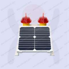 Solar Low-Intensity LED Obstruction Aviation Light Type a Compliance with Icao and Faa