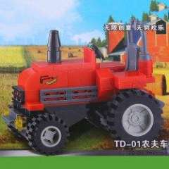 NO.82115 Plastic Building Blocks PD-01 Tractor Educational Funny Toy for Children