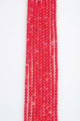 5mm round natural red coral beads string 15 '